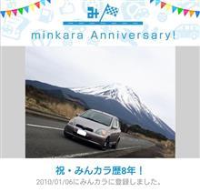 祝・みんカラ歴8年!