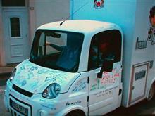 フランス エクサム・メガ社のメガ・マルチトラックがラーメン屋台で活躍!