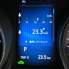 ◆冬休み最終日の燃費は、23.3km/Lでした