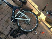 自転車パンク修理。。。