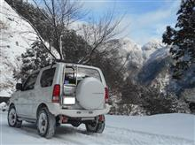 思いつき、ちょびり不安ながら、単独雪山アタック、新雪でラッキーでした。