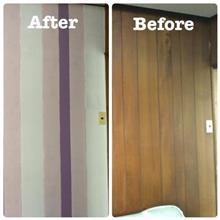 室内の壁塗り