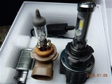 【fcl.】新型LEDヘッドライト フォグランプ ファンレス(HB4) モニターレポートその2・装着作業編
