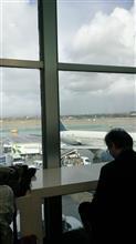 ロスで飛行機乗り継ぎ待ち