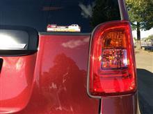 N-ONE ドラレコステッカーと、2色LEDの明るさチェック