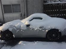 ロードスターで初積雪!