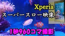 Xperiaでスーパースローモーション撮影(ニモペア)
