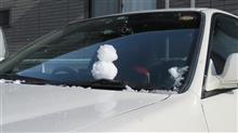 雪の日に、、、、今日の懐メロ車、、ちょっとびっくり