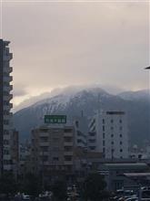 桜島初冠雪