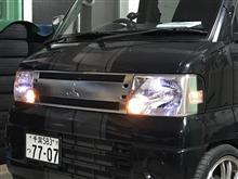 ポジション点灯とLED ヘッドライトへの交換