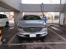ちょっとの晴れ間に洗車
