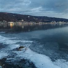 諏訪湖 凍結