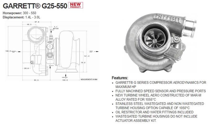 ギャレットの逆襲 Garrett G Series Turbo vs BorgWaner EFR Turbo」こす