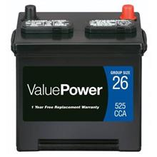 ValuePower VP-26 Battery 525 CCA
