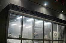アバルト595コンペティツィオーネ 塗装面を整え1層目のガラス系皮膜 ガン吹き完了です!