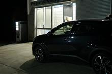 FIAT アバルト595コンペティツィオーネ 2層目のガラス系皮膜の塗り込み完了です。