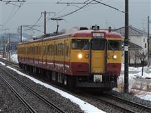 115系電車 旧新潟色【懐かしの新潟色】(平成30年1月21日撮影)