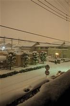 ▽大寒の大雪の夜