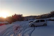 デミオのブレーキパッド交換と雪中行軍