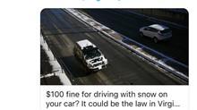 雪のってたら罰金って