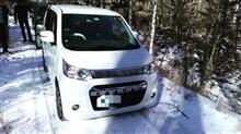 雪の林道散策オフ