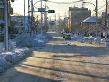 大雪 朝の通勤風景