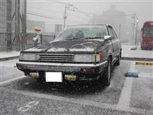 今日の福岡は雪が降って、カムリは初ハイオク
