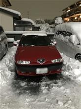 東京大雪の中で