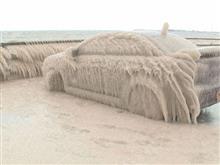 雪のあとは洗車しよう!
