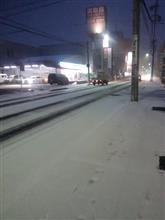 2日続けて積雪