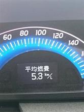 冬は燃費が悪いねぇ。