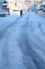 ▽大雪の降った次の朝