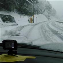 雪を探しに出勤前に・・・
