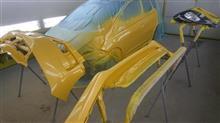 『ホンダ フィット 左フロントドア追突事故 板金・塗装・修理等(対物保険+ご実費』 埼玉県よりご来店のリピーター様です。