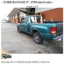 97 Ford Ranger Pickup