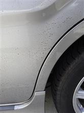 寒中手洗車