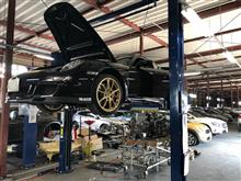 GT3リア足廻りとエンジン