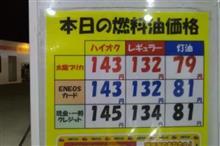 ガソリン価格上昇中!