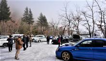 ★辺りは雪景色!春の陽気でここ奥多摩湖は幻想的な雰囲気にー!FC-WORKS2月の奥多摩湖オフ開催です♪