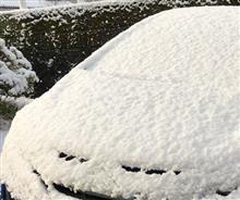◆【車名当てクイズ?】山口も雪は降ります。。。お昼までには溶けますが