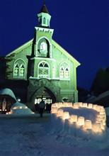 小樽雪あかりの路2018カトリック小樽教会富岡聖堂