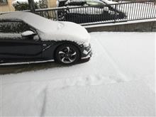 雪降る中プチオフ