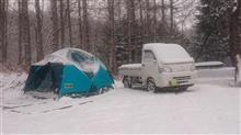 今シーズン最初の雪中キャンプ
