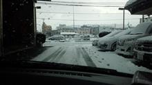 まさかの積雪