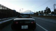 -3℃の富士山麓にて。