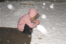 また雪だ!