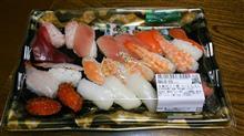 今夜は、生寿司21貫だよ♪