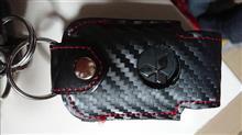 栃木レザースマートキーケース ブラックカーボン TYPE-2
