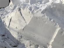 除雪模様と気になるクラッチ