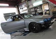 R34 GT-Rが入庫! 電装系のメンテナンスやセカンドオピニオンも好評です!